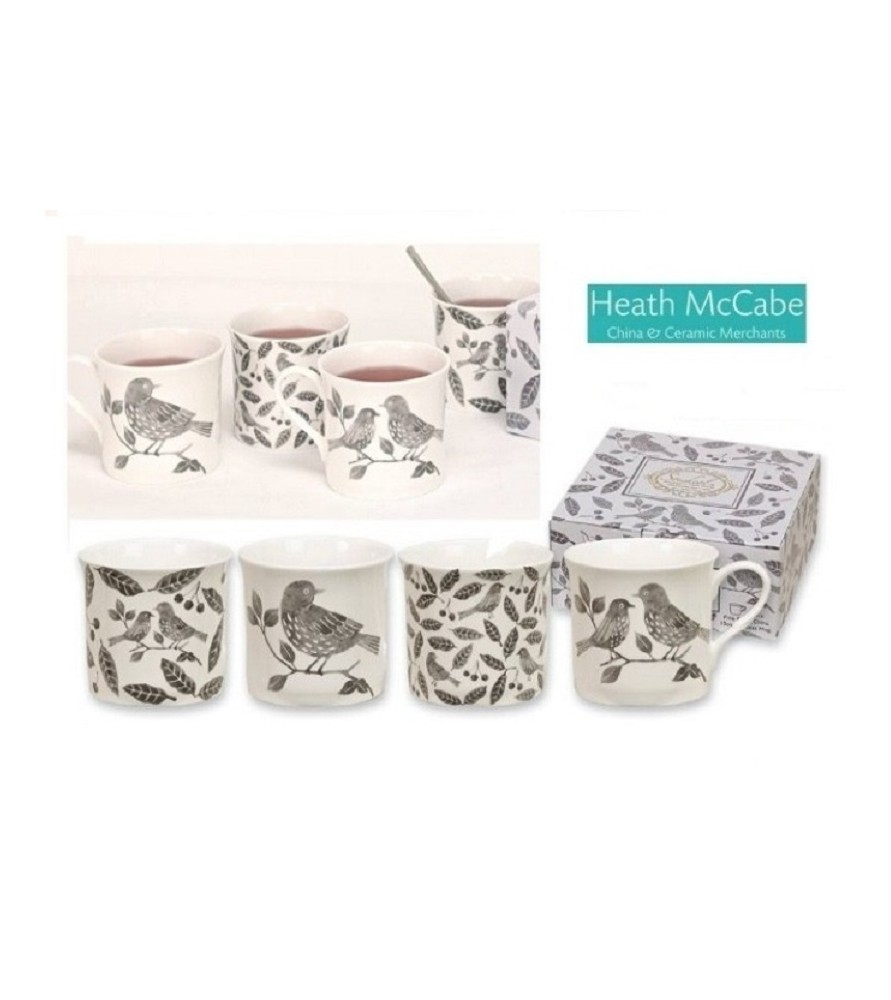 HEATH McCABE BIRD Mugs J4 Grey