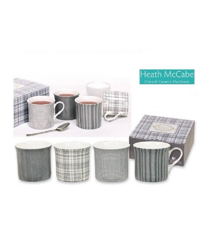 HEATH McCABE SHADES OF SLATE Mugs J4 Grey